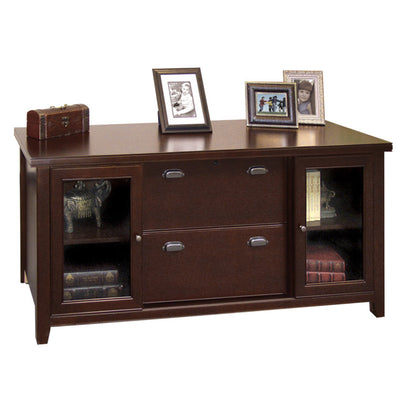 Tribeca Loft Storage Credenza - Cherry Finish