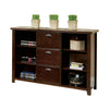 Tribeca 3 Drawer Lateral File Bookcase- Cherry Finish
