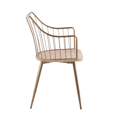 Winston Dining Chair Antique Copper (sold in pairs)
