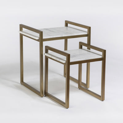 Santa Barbara Gold Nesting Table