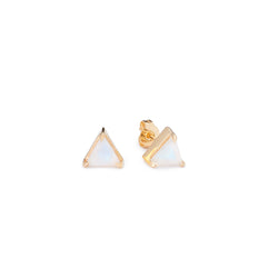 Mini Triangle Studs Moonstone