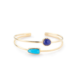Stinson Bangle Lapis/ Turquoise