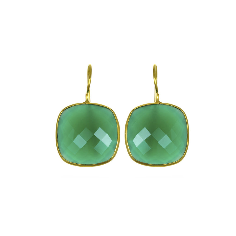Cushion Cut Drops Green Onyx