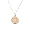 Diamond Pavé XO Disc Charm Necklace
