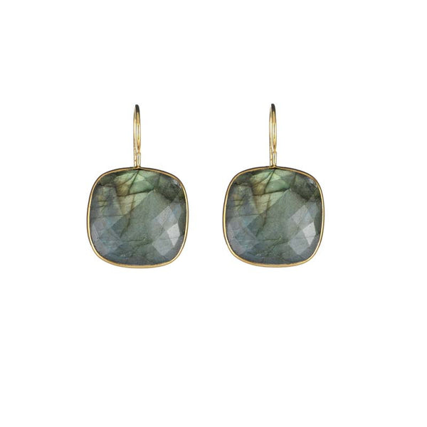 Cushion Cut Drops Labradorite
