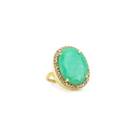 Ophelia Cocktail Ring Chrysoprase