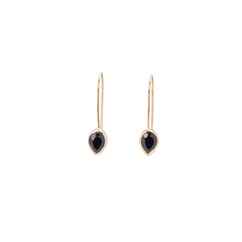 Pear Fallon Drops Black Onyx