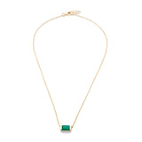 Channel Set Drop Necklace Green Onyx