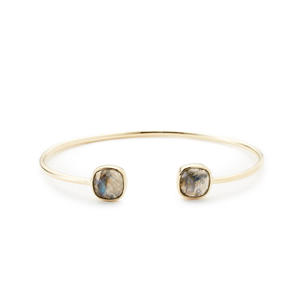 Cushion Cut Bangle Labradorite