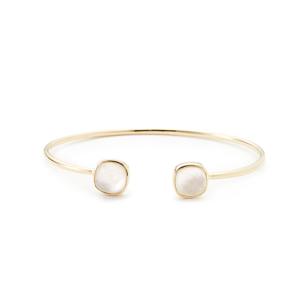 Cushion Cut Bangle Pearl Quartz