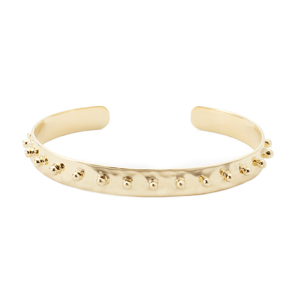 Hammered Dot Cuff Small