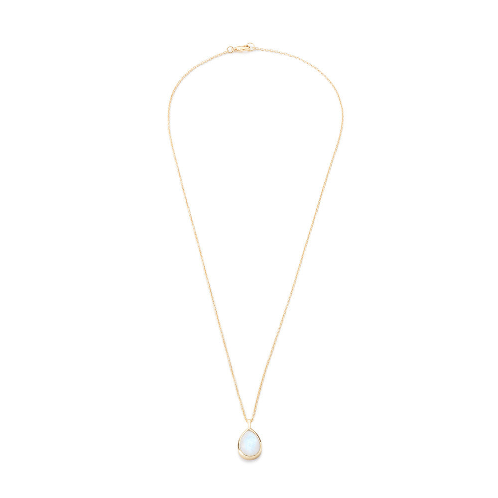 Teardrop Pendant Necklace Moonstone