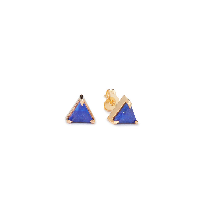 Mini Triangle Studs Lapis