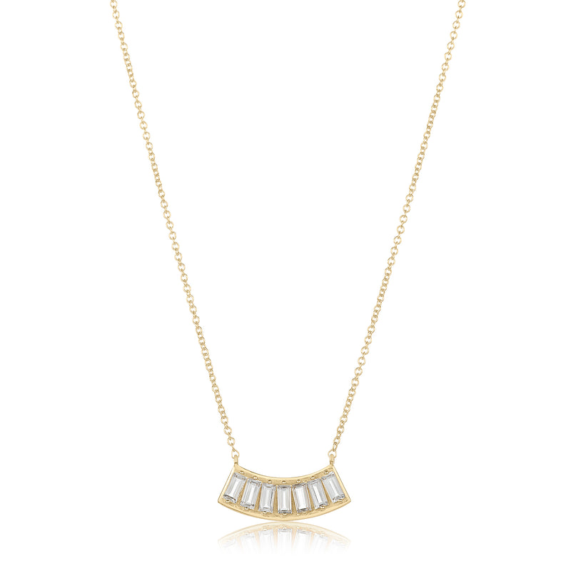 Emerald Cut Ogi Necklace - White Topaz