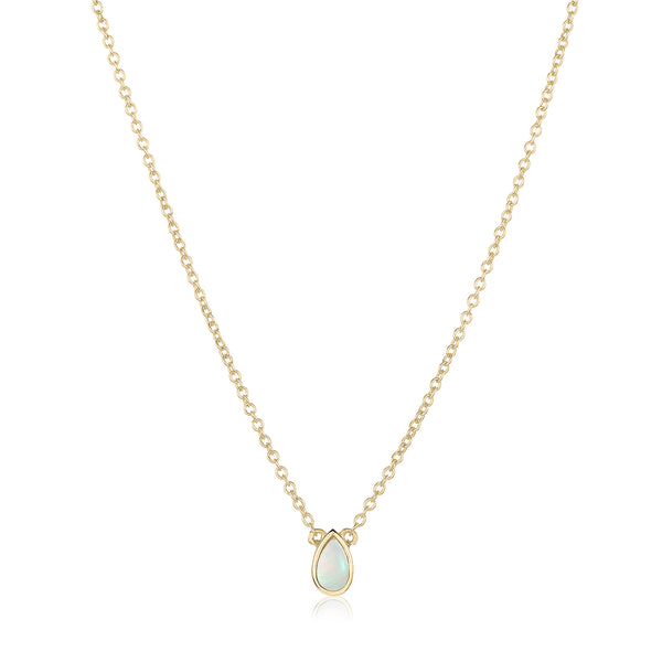 dainty pendant made of 24 karat gold fill and freshwater pearl