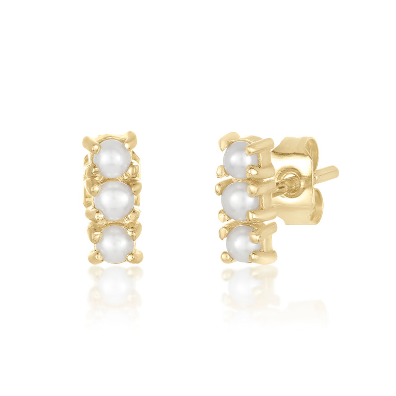 Mimosa Studs- Freshwater Pearl