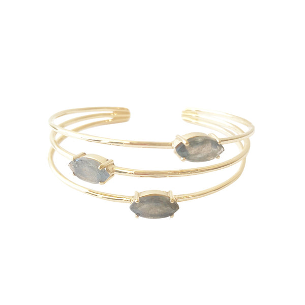 Bixby Bangle Labradorite