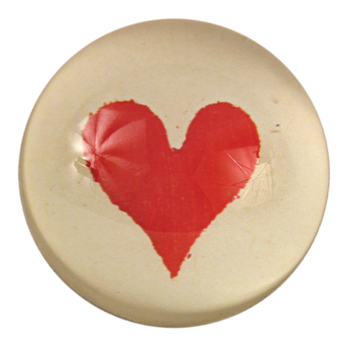 Heart (Card Suits) Dome Paperweight