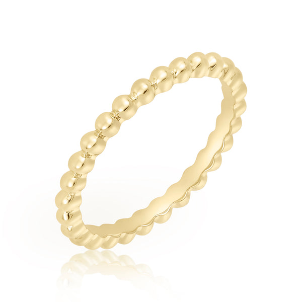 Delicate gold fill ring with ball motif