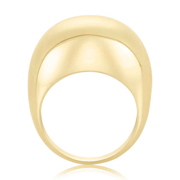 classic dome ring in 24 karat gold fill