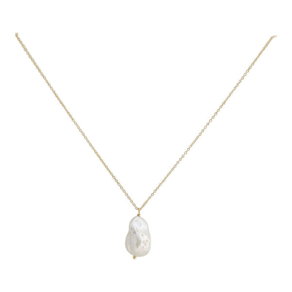 necklace with freshwater pearl pendant