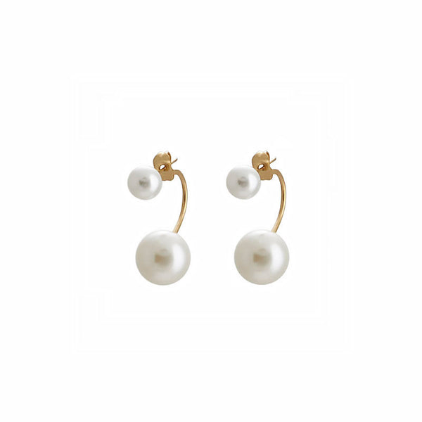 margaret elizabeth double pearl jacket earring