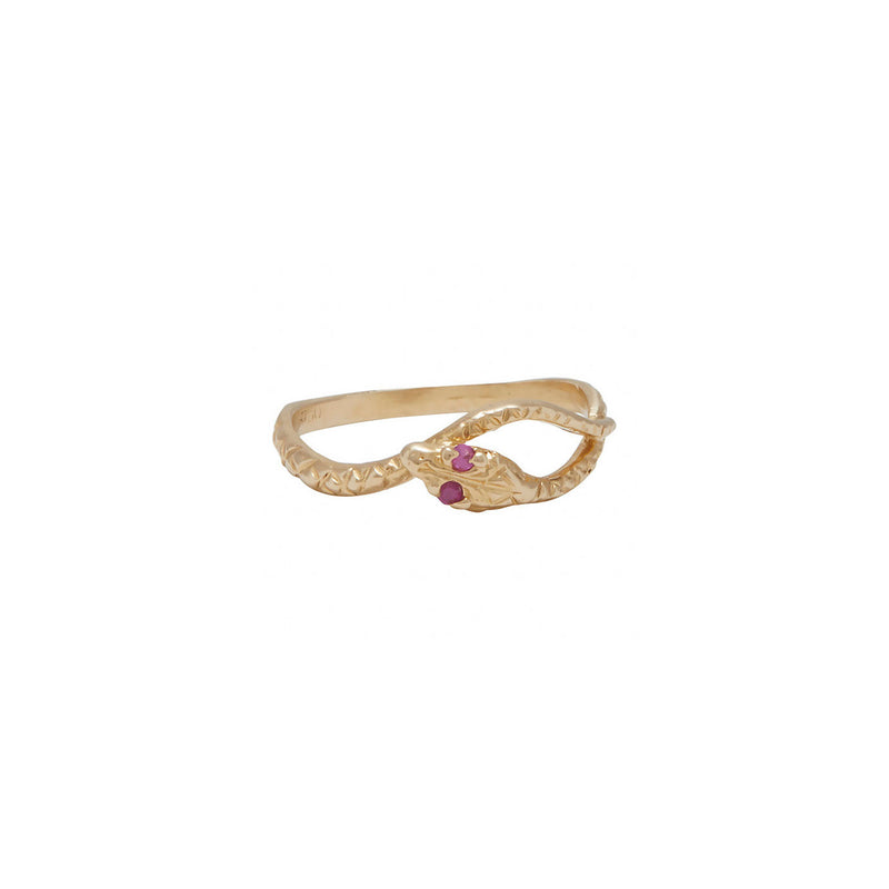 Delicate Ruby Snake Ring