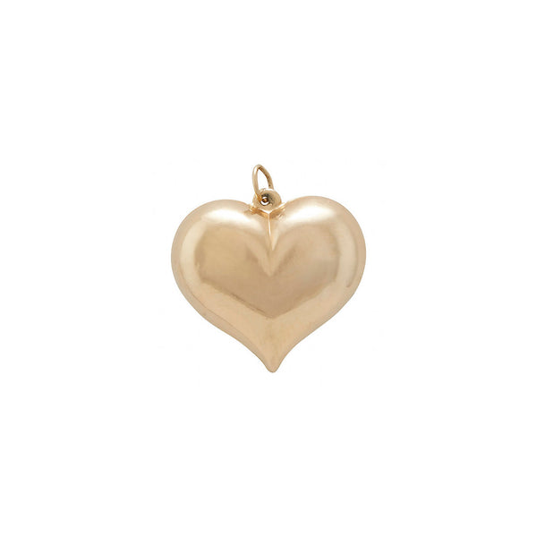 Large Puffed Heart Charm