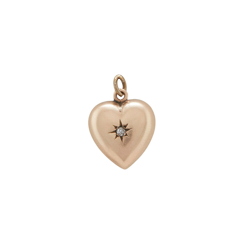 Gypsy Set Diamond Puff Heart Charm