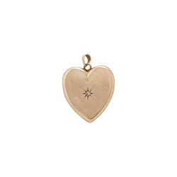 Gypsy Set Diamond Heart Locket Large
