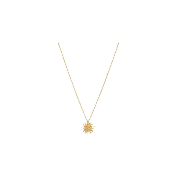 gold vermeil necklace with urchin-shaped pendant