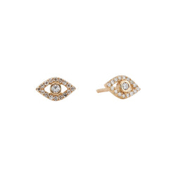 Diamond Evil Eye Studs