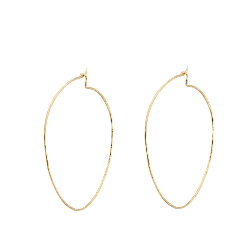 Large Hammered Hoops
