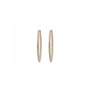 14k Diamond Hoops (medium)