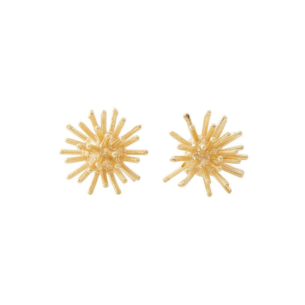 stud earrings with an urchin motif
