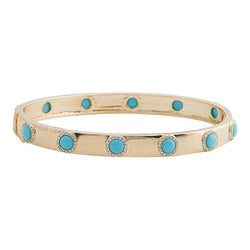 14k Turquoise & Diamond Bangle