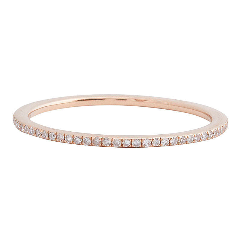 Diamond Eternity Band Rose gold