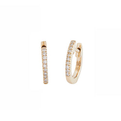 Diamond Huggie Studs