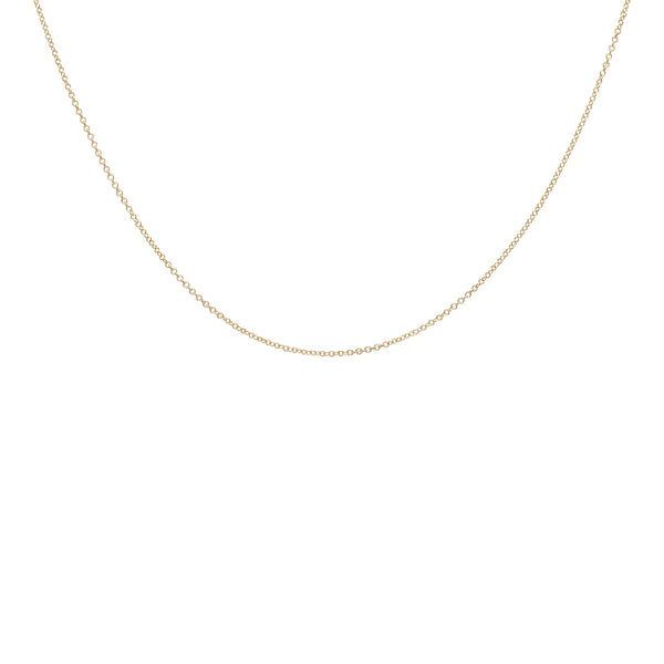 14 karat gold cable chain