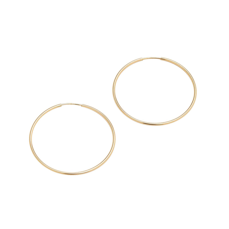 Large Endless Hoop (Yellow Gold)