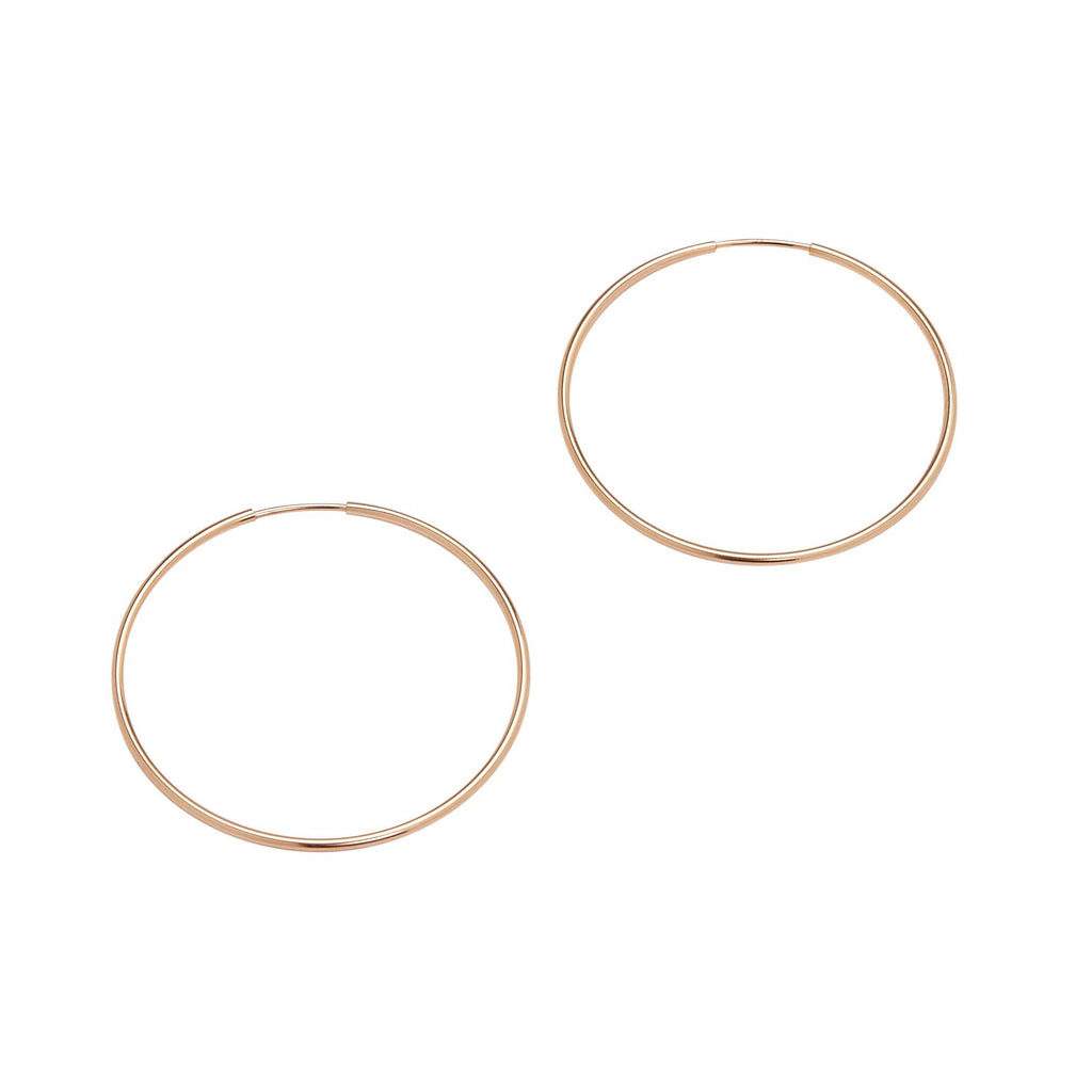 Large Endless Hoops (Rose Gold)