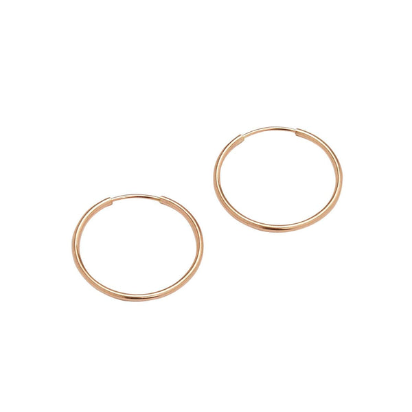 Medium Endless Hoops (Rose Gold)