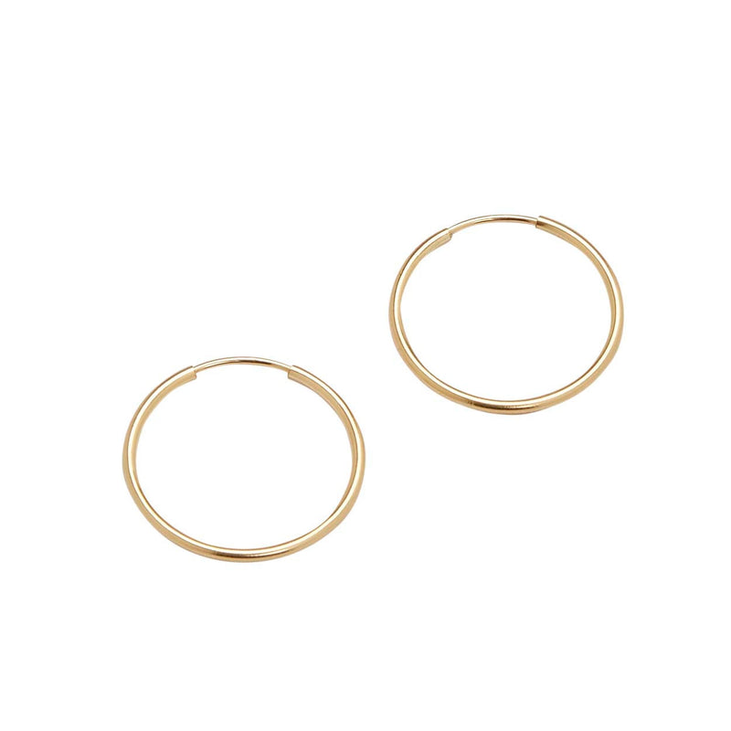 Medium Endless Hoops (Yellow Gold)