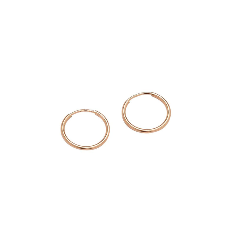 Mini Endless Hoops (Rose Gold)
