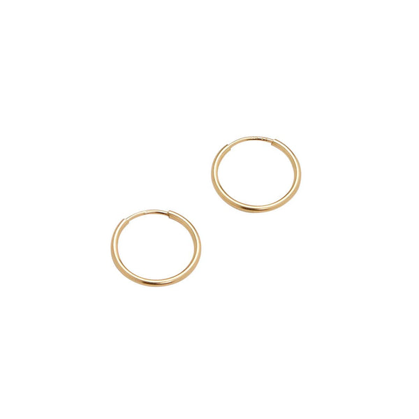 Mini Endless Hoops (Yellow Gold)
