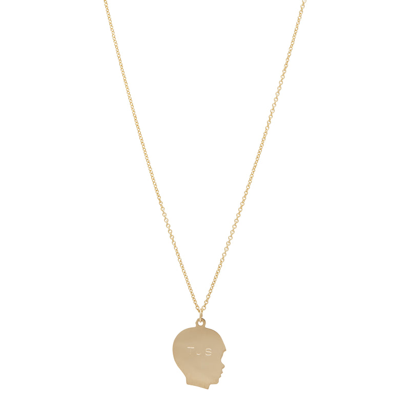 14k Gold Boy Silhouette Necklace