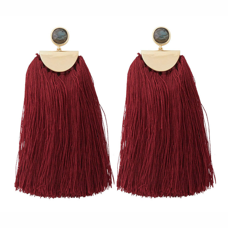 Avery Tassel Cranberry
