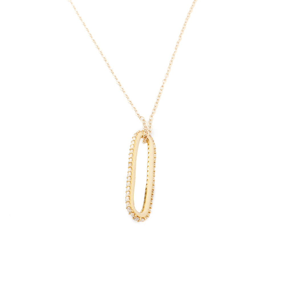 Diamond Pavé Eternity Necklace
