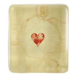Faded Suits Heart Rectangular Paperweight