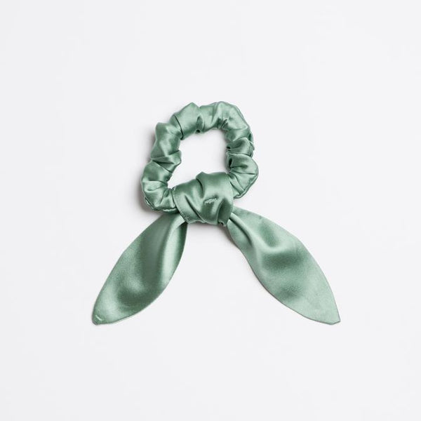 Sage Brush Silk Scrunchie Tie
